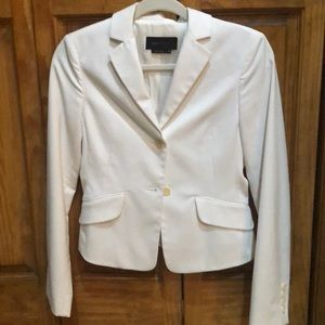 White blazer with a fitted shape